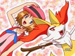 Serena and Braixen by JorgeMoctezuma