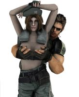 Resident Evil: Topless Jill by Lobiply