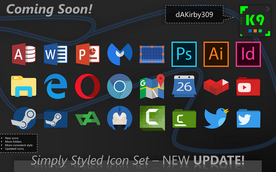 [COMPLETE] Simply Styled Icon Set UPDATE PREVIEW by dAKirby309