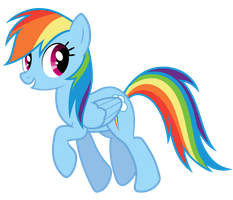 Rainbow Dash Vector - Heyo! by Anxet