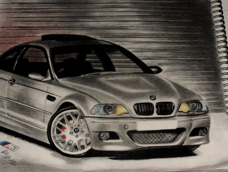 BMW M3 Pencil drawing by Neveramez