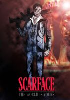 SCARFACE: The World is Yours Colored by PaulVincent
