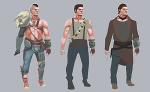 Wasteland Hero Concepts by Wabfloyd