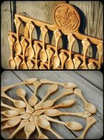 FOODark  spoon set by pagan-art