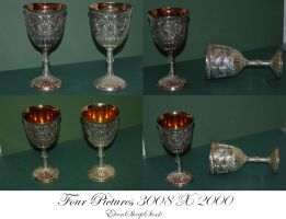 Silver Goblets by ElvenSheepStock