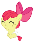 Apple Bloom the Happy Baby by Beavernator
