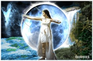 Artimes, Moon Goddess by vortexbabe