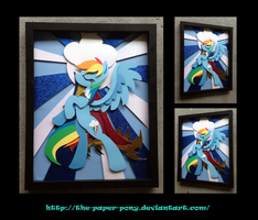 Stained Glass Rainbow Dash Shadowbox by The-Paper-Pony