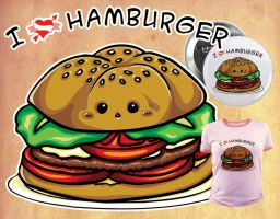 I love hamburger by elisamoriconi