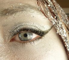 Silver Glitter Eye Stock IV by Melyssah6-Stock