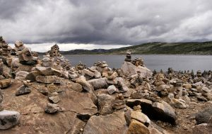 Stone stacks by WALKING-GIRL