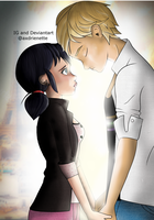 Miraculous Ladybug Adrien and Marinette by axdrienette
