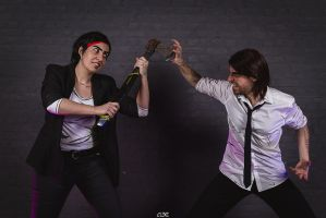 Bigby Wolf and Bloody Mary Cosplay - You maniac! by Snakethoot
