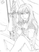 me and a sword-lineart by neji-hinata