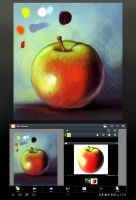 Apple study in layer paint by charfade