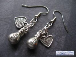 The House Lannister Earrings by SpellsNSpooks