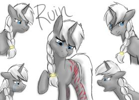 OC Request: Ruin by Bluefeathercat