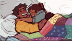 Hance snuggles are the best snuggles. by arrival-layne