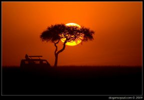AFRICAN SUNSETS ARE BEAUTIFUL by dogansoysal