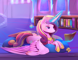 Princess Cadance close up. by viwrastupr