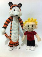 Calvin and Hobbes Amigurumis by AmiAmaLilium