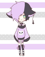 Auction. {30} Squishy Baby, Pastel Goth [CLOSED] by Piiyo-chan