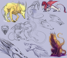 Fray and Mutt creature forms by Arenheim