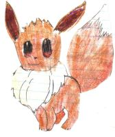A very old eevee by hylian-dragoness