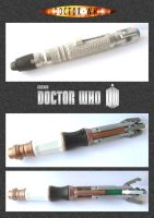 Doctor Who - Sonic Screwdrivers by mikedaws