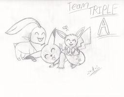 Prize: Team Triple A -SKETCH- by ArianatheEchidna