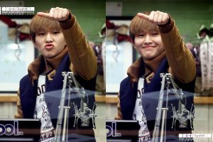 Onew: 130116 Kiss the Radio by waterbirdART