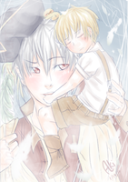 Aph- Prussia and  Lil Germany by sabakugaara