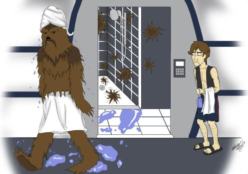 It Looks Like a Wookie Took a Bath Here! by beyondthegrave1986