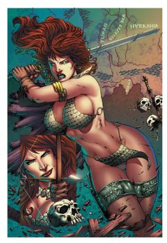 Red Sonja color sample by mikestefan by mikestefan