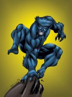 X-Men Beast by MarcBourcier