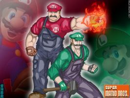 Super Mario Badasses WP by TheALVINtaker
