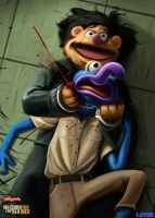 No Country For Old Muppets - by DanLuVisiArt