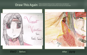 Vincent Valentine: Then and Now by GraphiteStrike