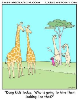 Giraffe Teens cartoon by AtomicCheese