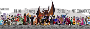 Big Disney Villains Art Collab by tavington