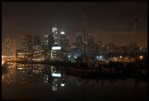 Philadelphia Skyline by nanshant