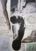Sketchbook Study of feet by Annashipway