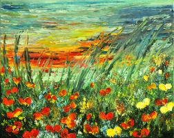 SUNSET MEADOW SERIES by ARTBYTERESA