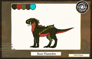 Razr Flamefen Sheet [ LVL 4 ] by Myth-Dragon