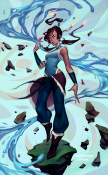 Korra by mior3e