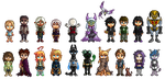 Walking Citizens Pixelart 2 by Seikame
