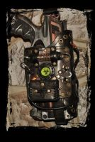 post-apocalyptique maverick leather holster by Lagueuse