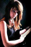 A girl with a guitar by kleopatra2015