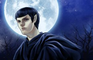 Star trek-Spock in Moon night by dosruby