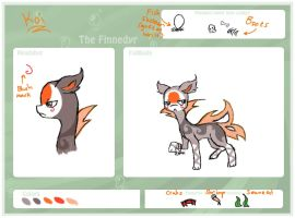 Koi- 2nd Finnedyr Charecter Sheet by Bluebird9209